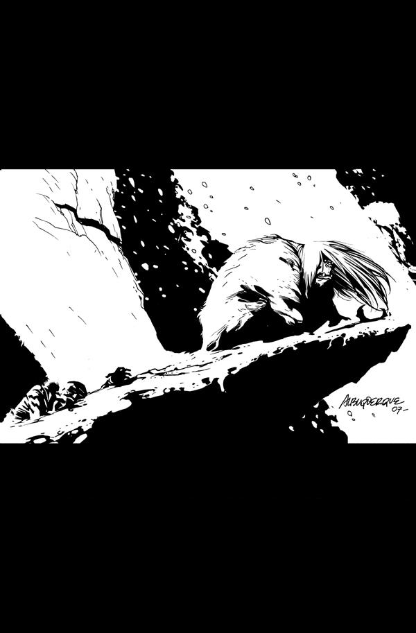 Yeti vs Vampires Pin Up by rafaelalbuquerqueart