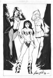 DC Girls Commission by rafaelalbuquerqueart