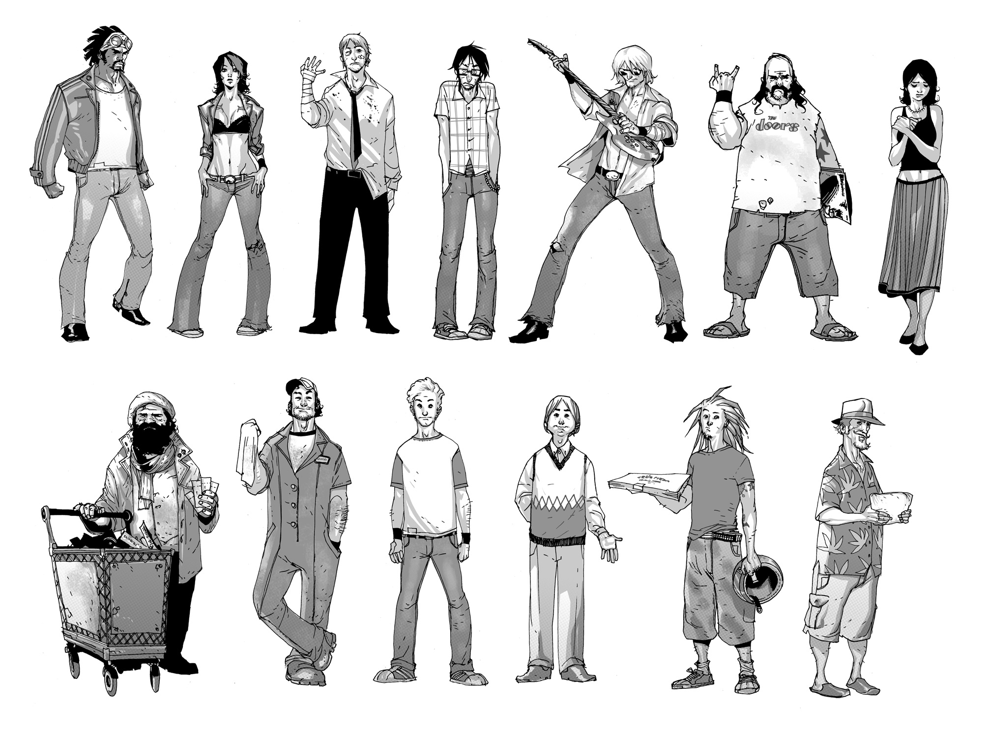 Mondo Urbano Characters by rafaelalbuquerqueart