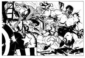 Marvel Heroes by rafaelalbuquerqueart