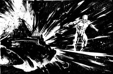 Silver Surfer Commission by rafaelalbuquerqueart