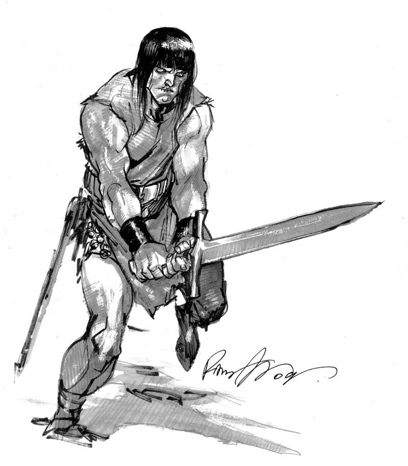Conan Sketch by rafaelalbuquerqueart