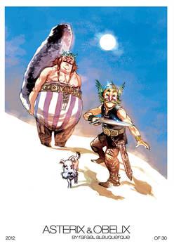 Asteris and Obelix Print