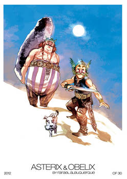 Asteris and Obelix Print