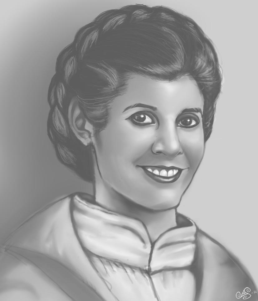 Carrie Fisher by Gearann