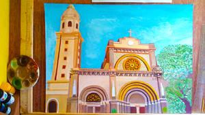 Painting: Manila Cathedral - Basilica (WIP)