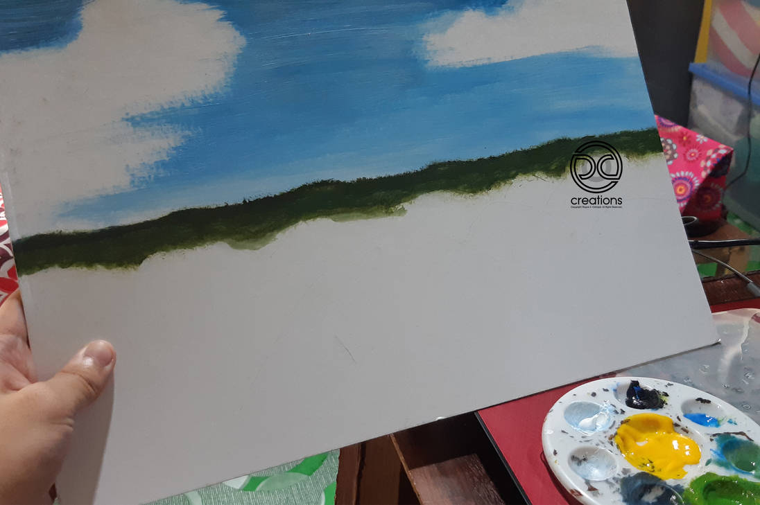 Painting: Chocolate Hills, Bohol, Philippines WIP by DicoCalingal