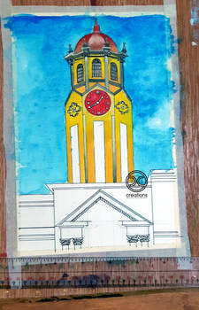 Watercolor Painting: Manila City Hall (WIP)