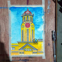 Watercolor Painting: Manila City Hall (Finishing)