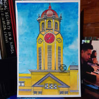 Watercolor Painting: Manila City Hall (Final)
