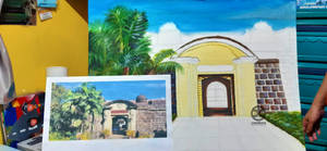 Painting: Puerta Real, Intramuros (WIP)