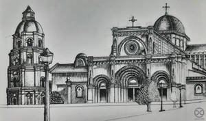 Pen Drawing: 7th Manila Cathedral (WIP)