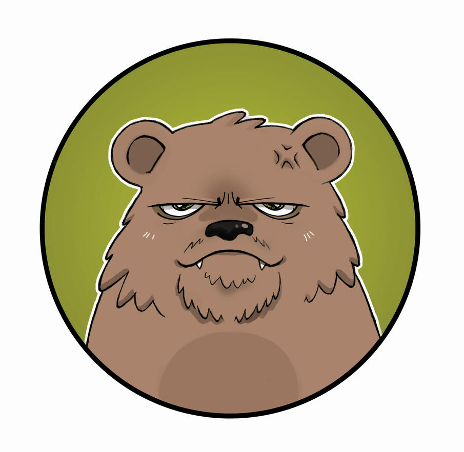 GRUMPY BEAR.... by Elaume on deviantART