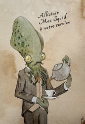Allistair Mac Squid (steampunk butler) by Elaume