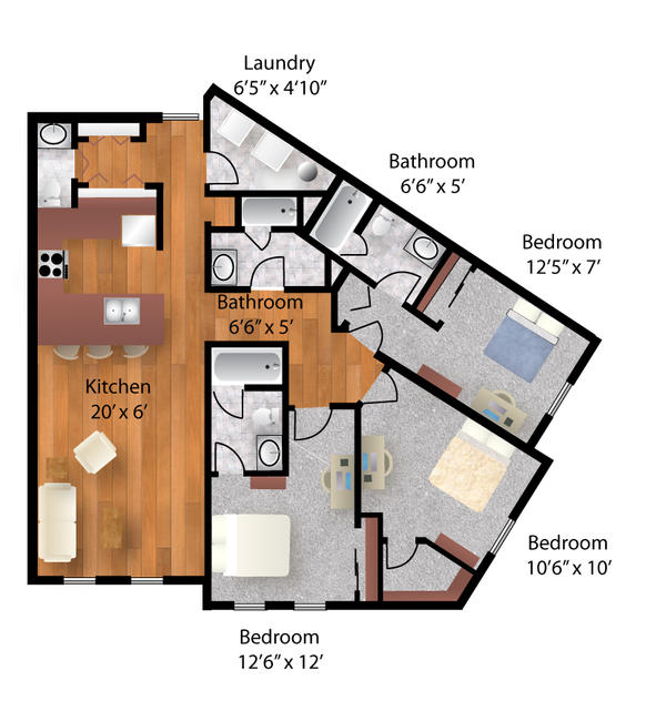 Colored Floor Plan 01 By Phixgrrrl On Deviantart