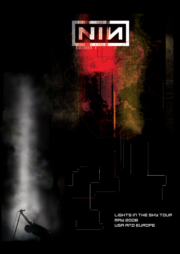 Nine Inch Nails poster by phixgrrrl on DeviantArt