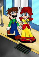 Luigi and Daisy by paratroopaCx