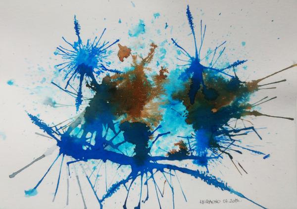 Watercolor splash by keiraono