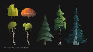 Trees - concept art Project Emma by AlessiaAuricchio