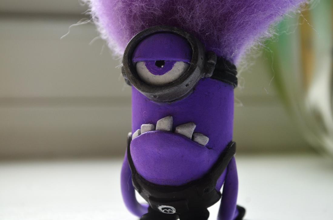 Despicable Me 2 Evil Purple Minion Clay Sculpt by dcX1991 ... | 1098 x 727 png 1062kB