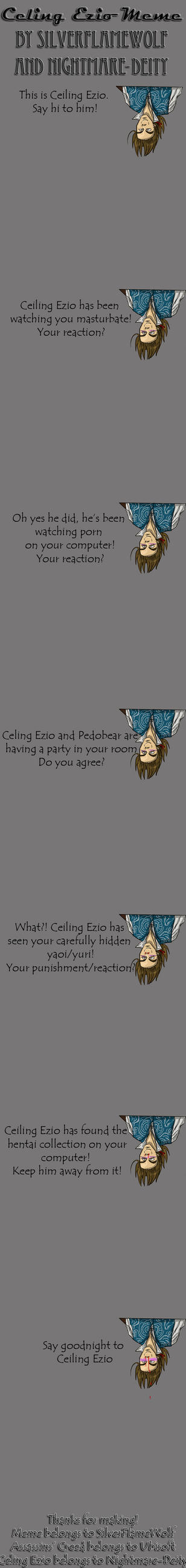 .::Blank Ceiling Ezio Meme::. by SilverFlameWolf