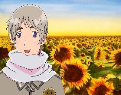 Russia in a sunflower field by xXTheWorldIsMineXx