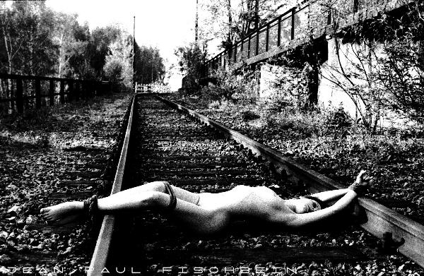 Something is. Girl tied to tracks consider, that