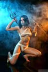 Cosplay Mileena alternate costume Mortal Kombat 9
