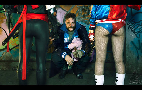 Suicide Squad Katana ,Boomerang,Harley Quinn
