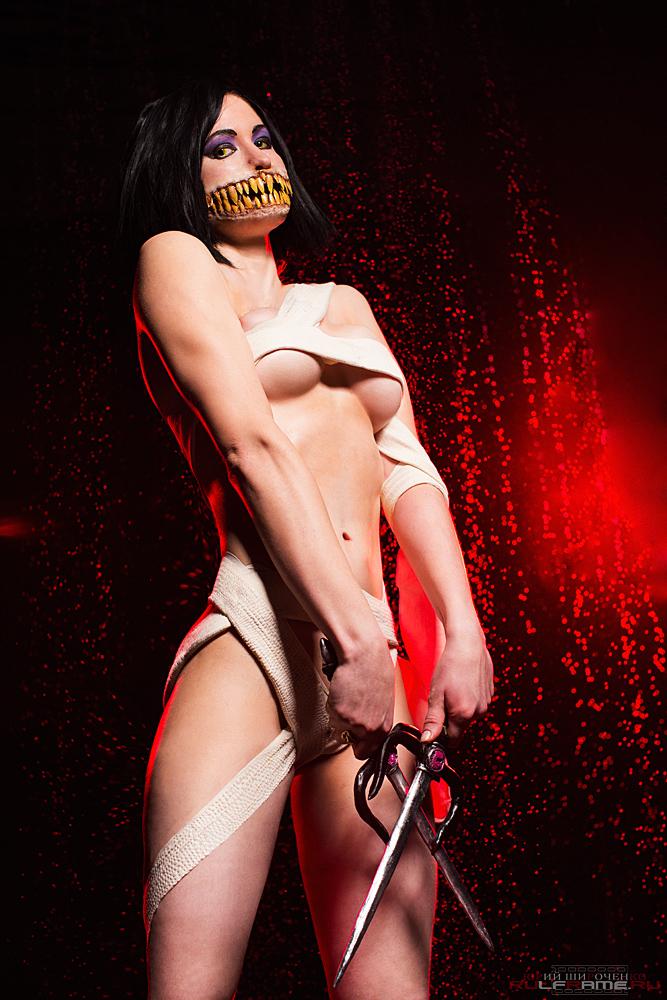 alternative costume Mileena cosplay Mortal Kombat9 by AsherWarr
