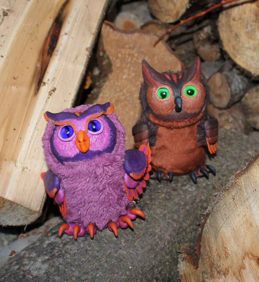 little owls, Handmade Toy by AsherWarr
