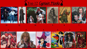 REDONE: Top 12 Captain Hooks by JJHatter