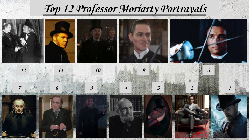 Top 12 Professor Moriarty Portrayals by JJHatter