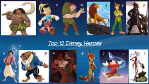 Top 12 Disney Heroes by JJHatter