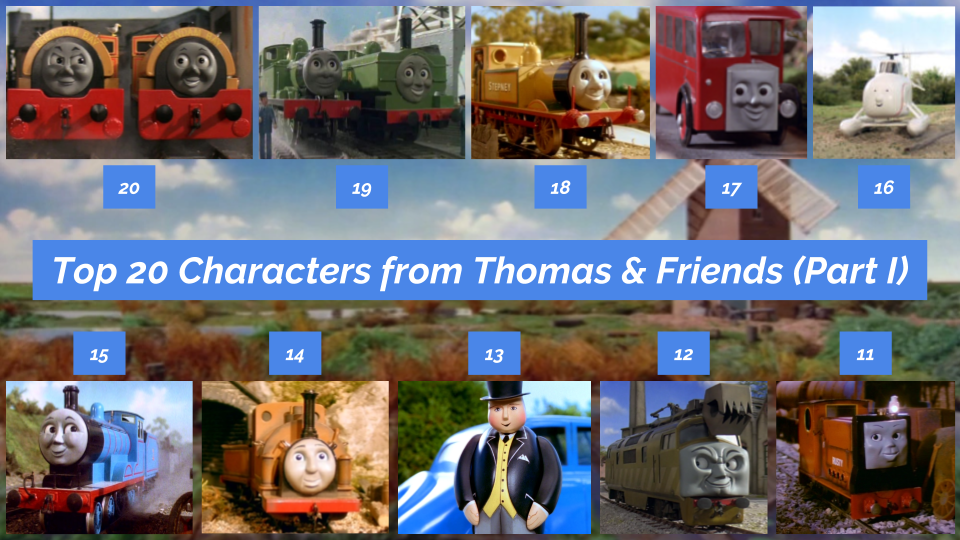 Top 20 Characters From Thomas And Friends Part 1 By JJHatter