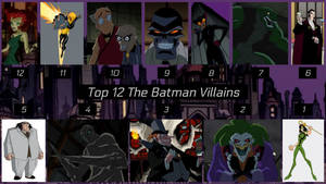 Top 12 The Batman Villains by JJHatter