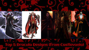 Top 5 Dracula Designs (from Castlevania) by JJHatter