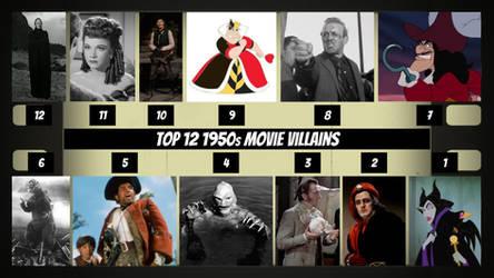 Top 12 1950s Movie Villains by JJHatter