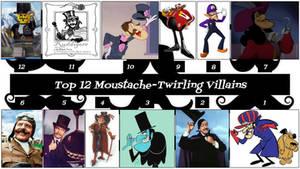 Top 12 Moustache-Twirling Villains by JJHatter