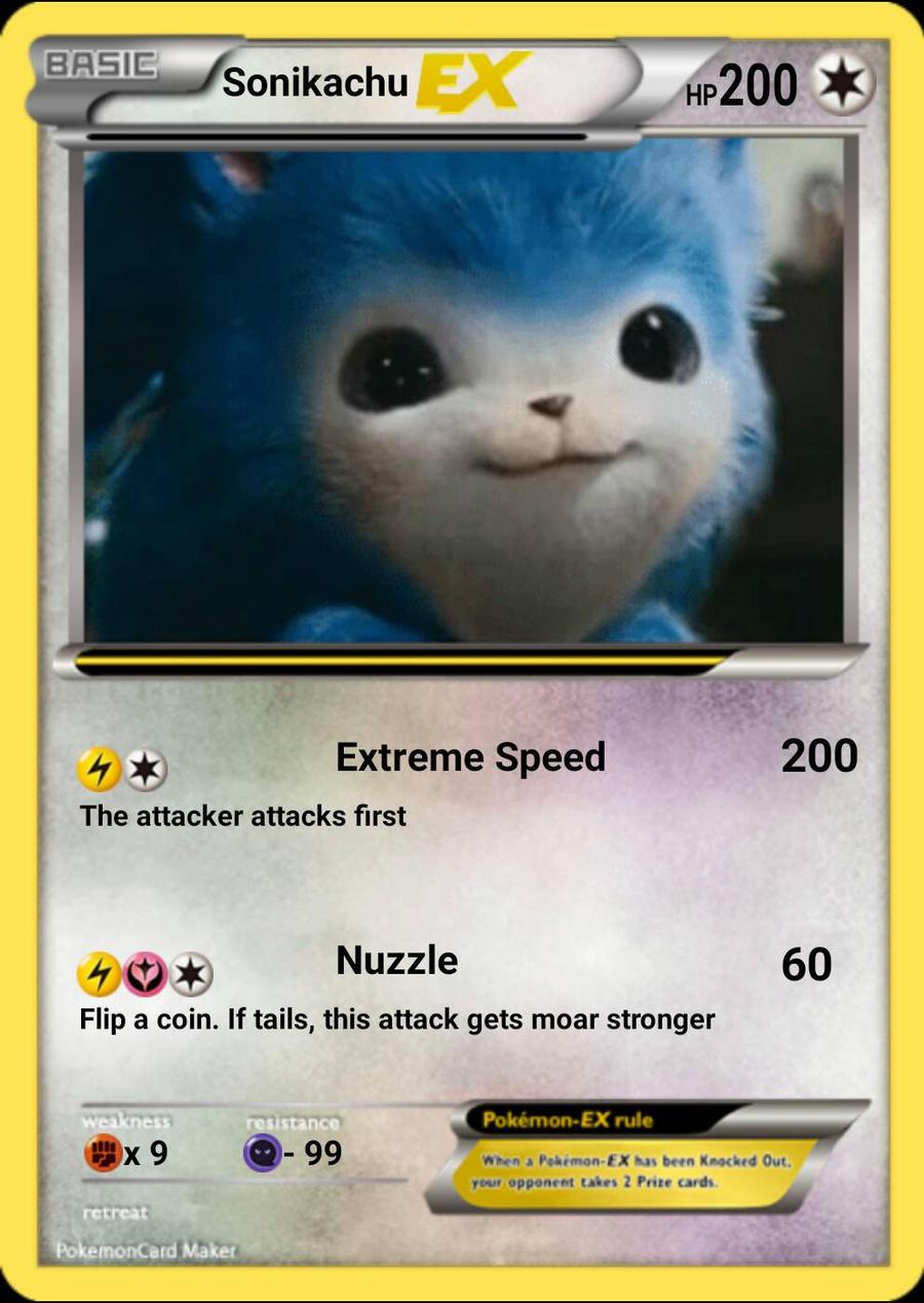 Sonikachu Fake Pokemon Card By Ssbrandon On Deviantart