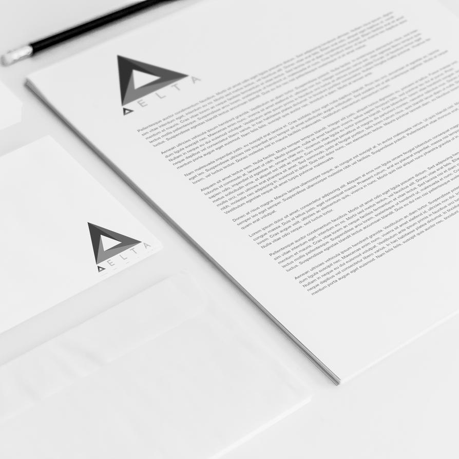 DELTA Letterhead And Envelope Mockup By Designammo ...
