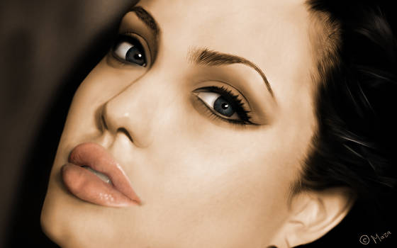 Angelina Jolie with colour