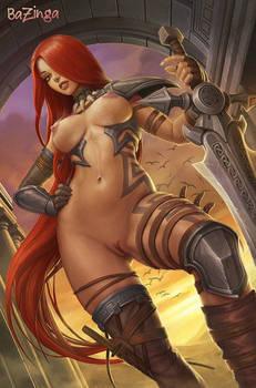 sexy naked fantasy warrior
