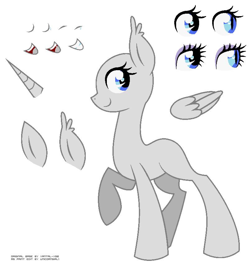 Female Vampire Pony Base By Xantal-XGB