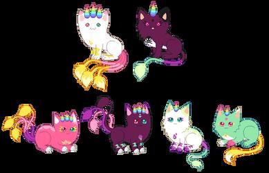Amidrop kittens [closed] by unicorngirl1