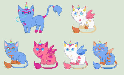 Tess-Angel kitties [closed] by unicorngirl1