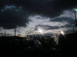 County fair in the evening