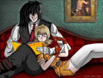 It's time to know who I am - Seras And Alucard by robertavampire