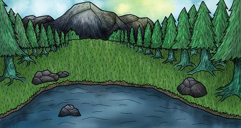 A Mountain and a Lake