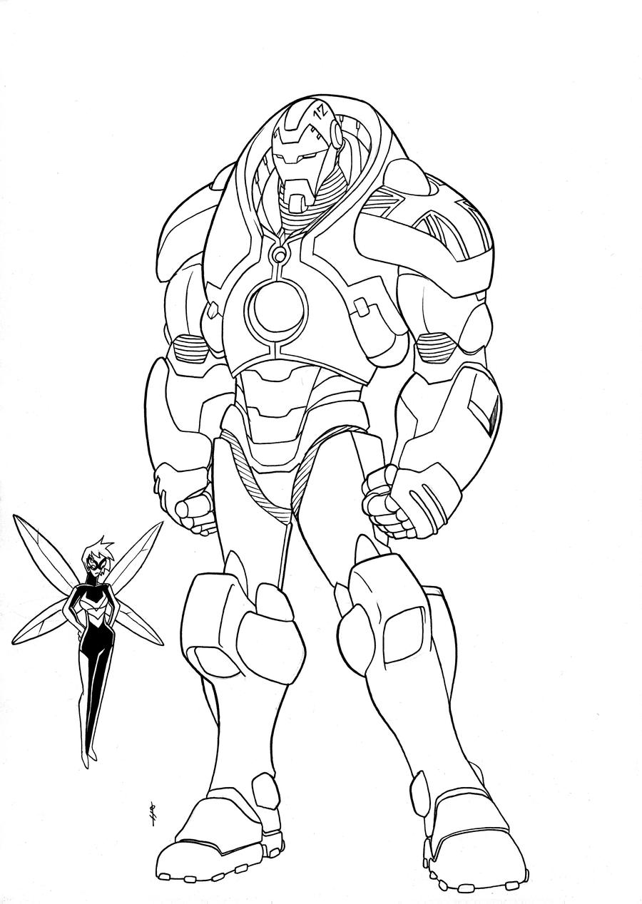 Uk Iron Man And Wasp By Boo Deviant On Deviantart Avengers Coloring Pages The Justice League Cartoon